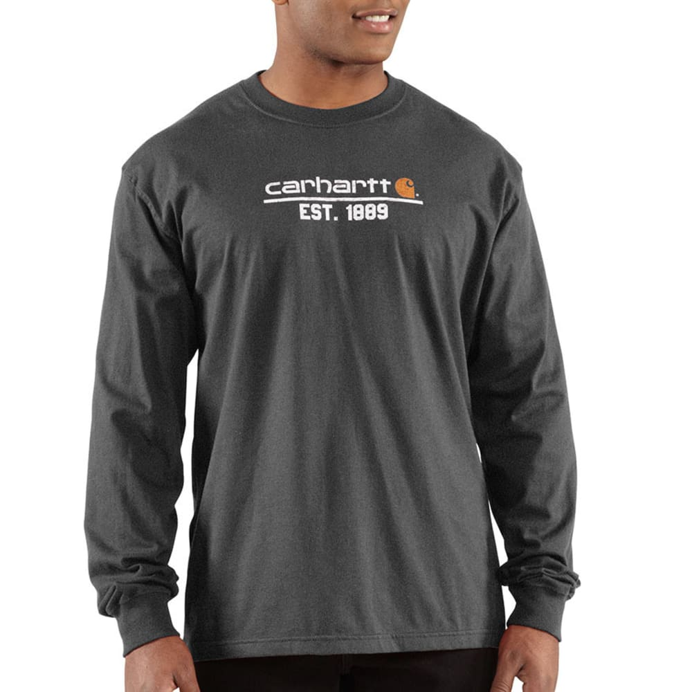 CARHARTT Men's Classic Logo T-Shirt - CARBON HEATHER