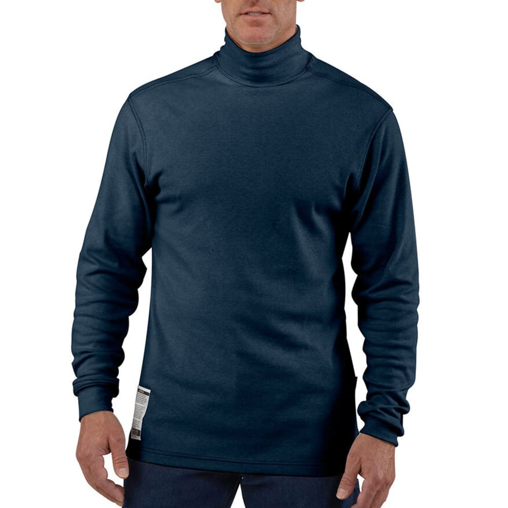 CARHART Men's Flame-Resistant Traditional Mock Turtleneck - DARK NAVY