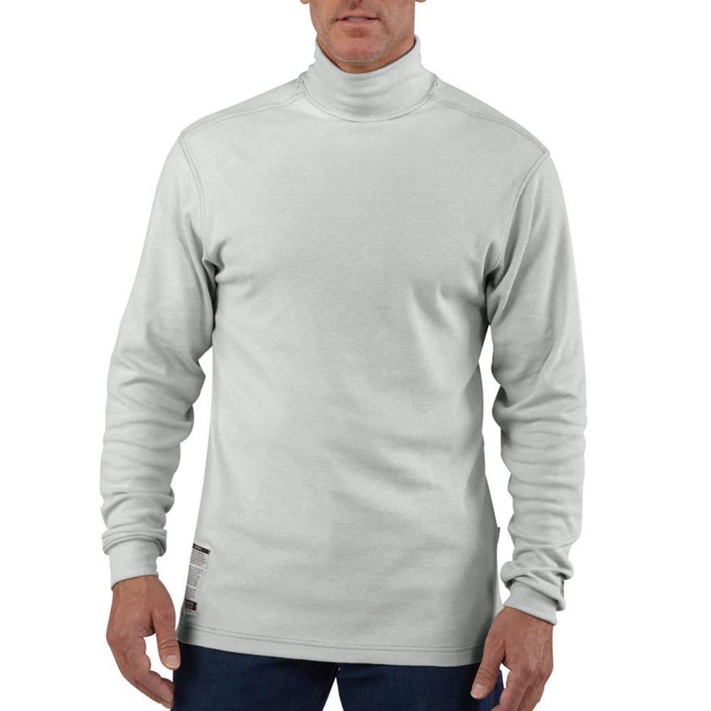 CARHARTT Men's Flame-Resistant Traditional Mock Turtleneck, Extended Sizes - LIGHT GREY