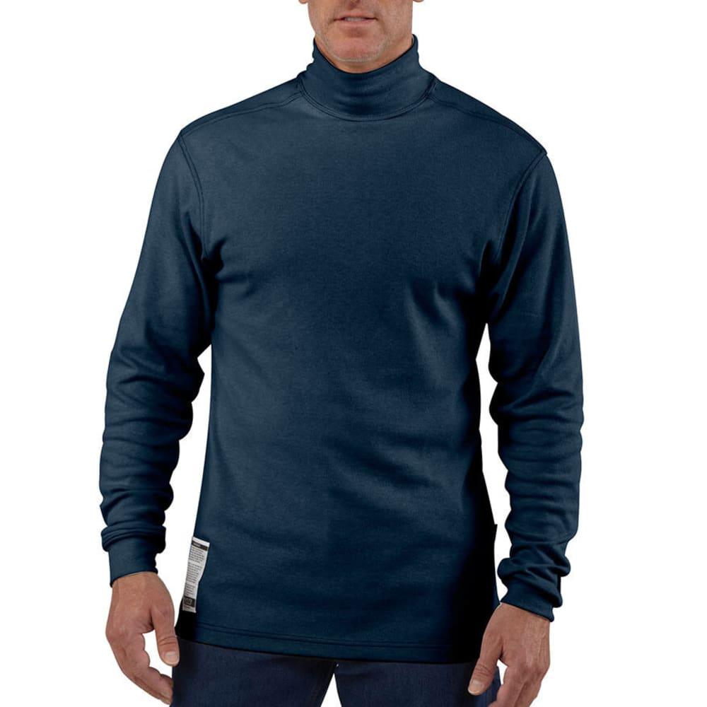 CARHARTT Men's Flame-Resistant Traditional Mock Turtleneck, Extended Sizes - DARK NAVY
