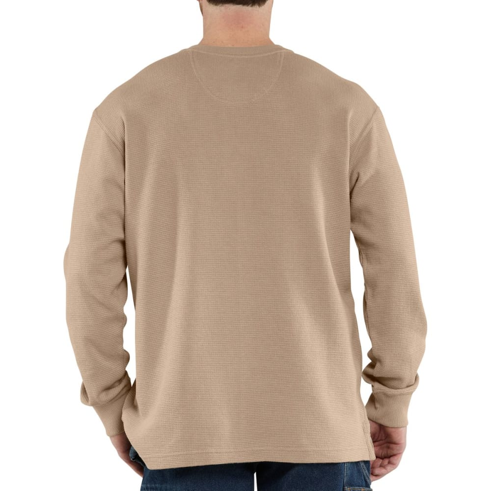 CARHARTT Men's Textured Knit Henley - DARK TAN