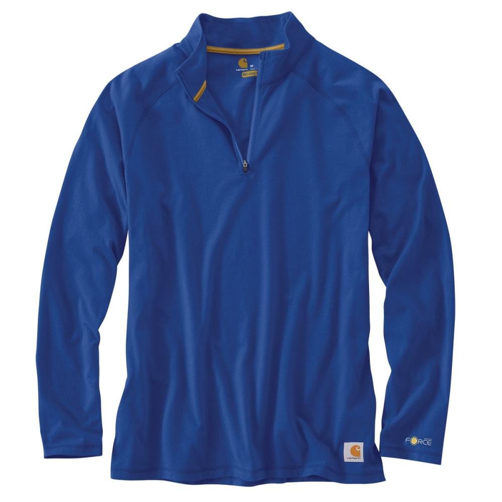 CARHARTT Men's Force Cotton Delmont 1/4-Zip Long-Sleeve Pullover - NAUTIC BLUE