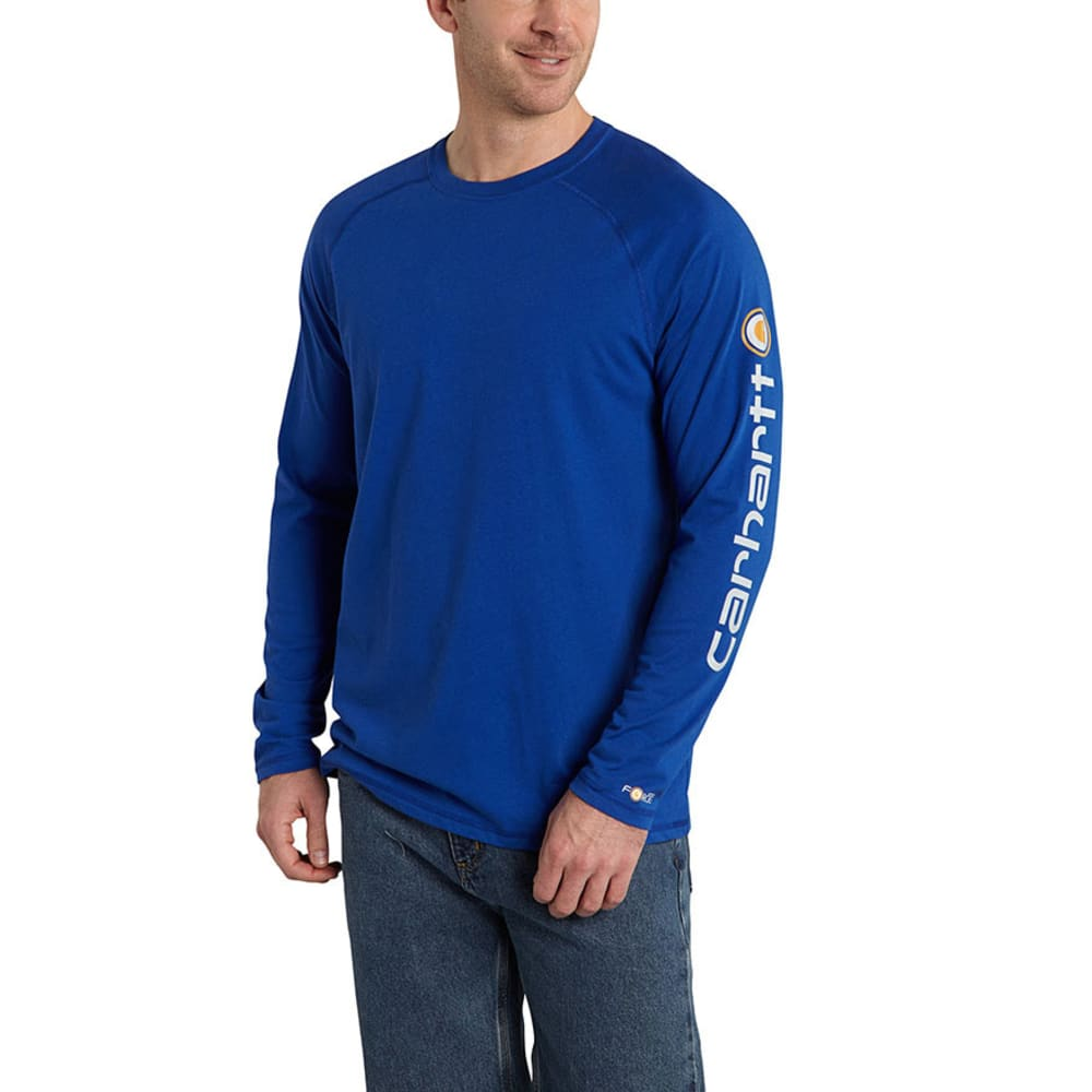 CARHARTT Men's Force Delmont Sleeve Graphic Tee - 489 NAUTICAL BLUE