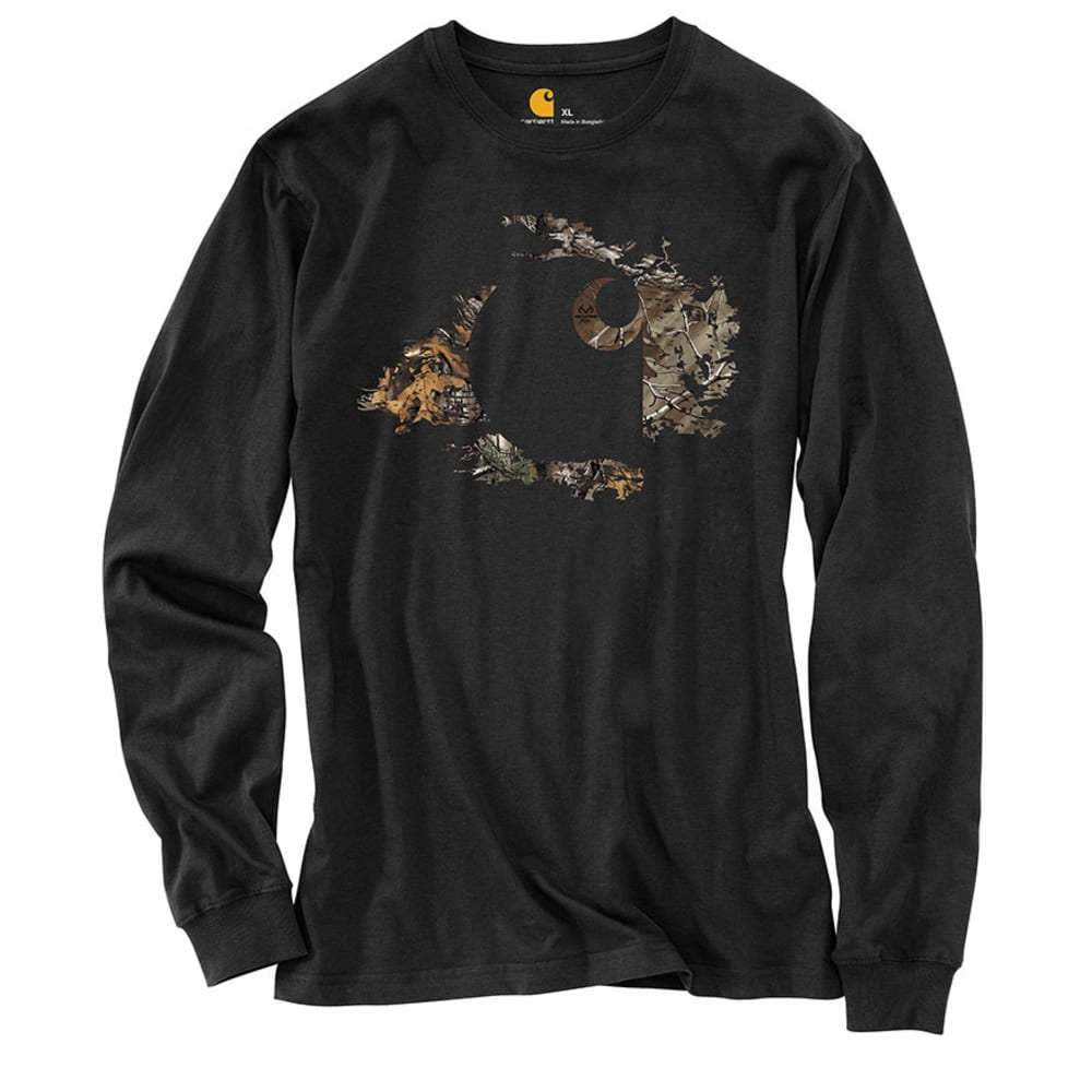 CARHARTT Men's Workwear Graphic Camo Accent T-Shirt - BLACK