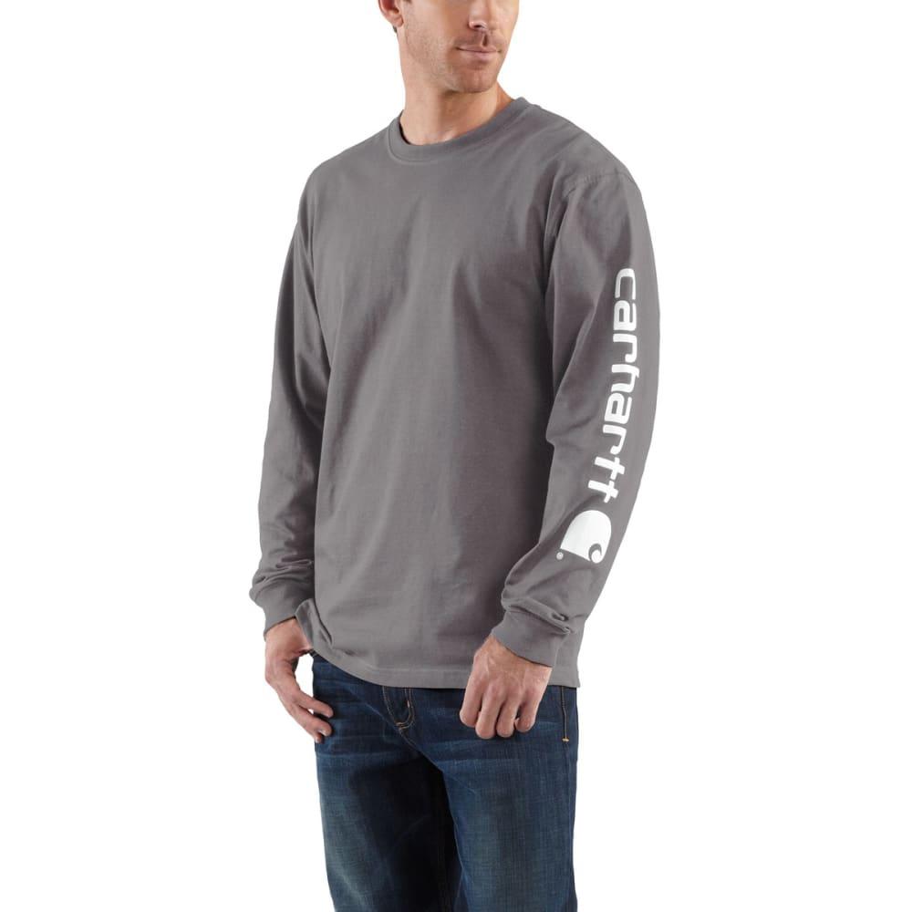CARHARTT Men's Long-Sleeve Graphic Logo T-Shirt - CHR CHARCOAL