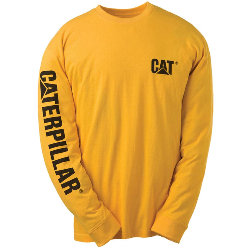 CAT Men's Trademark Banner Tee - Yellow, L
