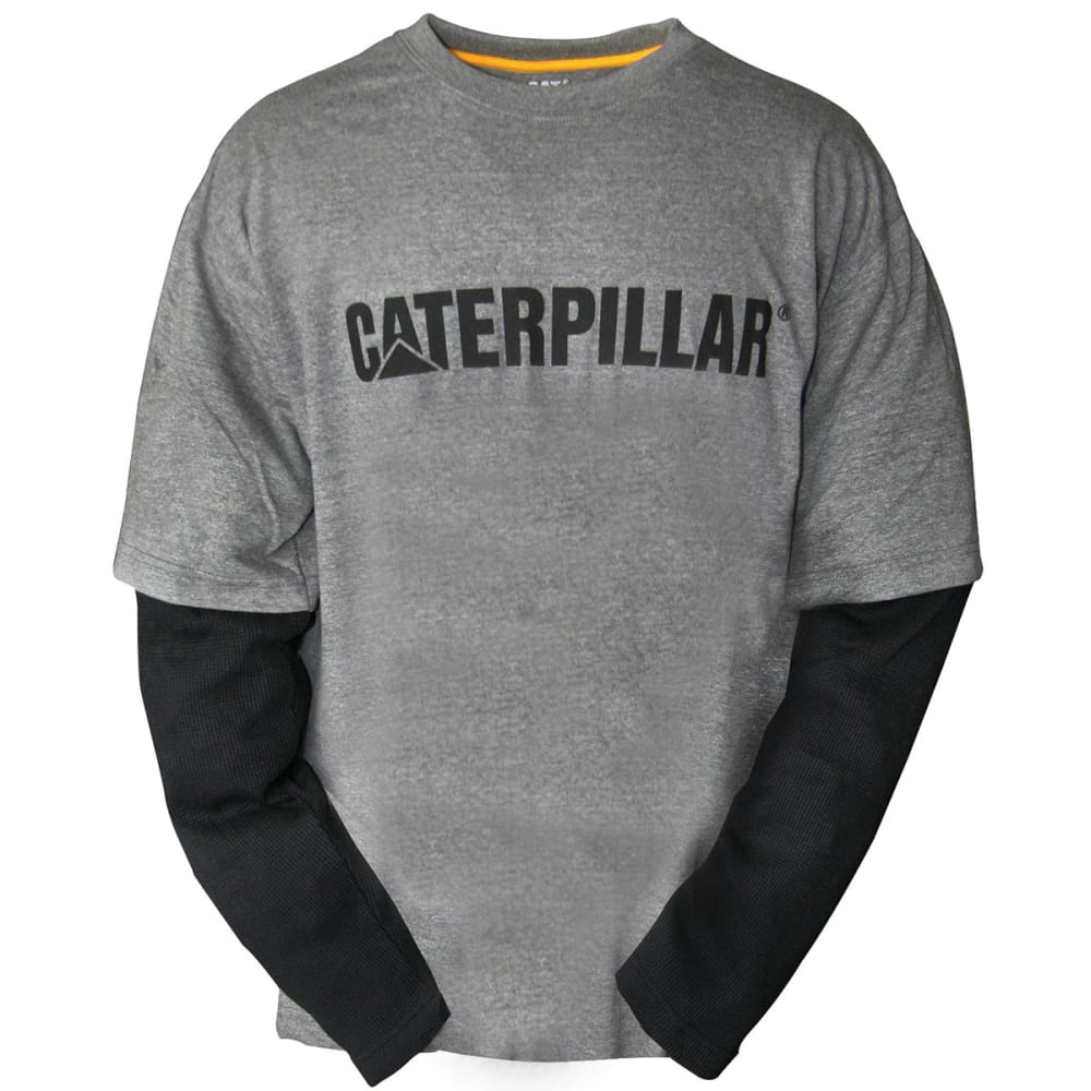 CATERPILLAR Men's Layered Long-Sleeve Thermal Shirt - 004 DK GRY