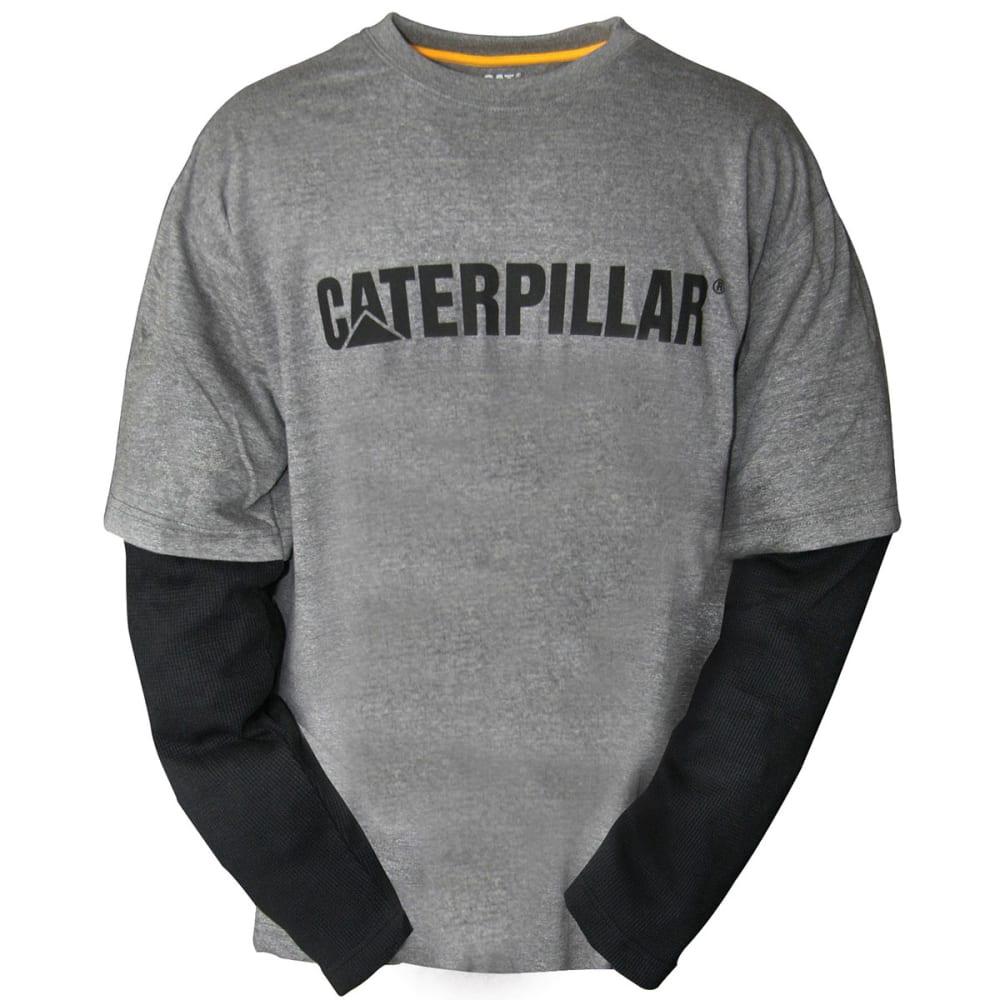 CATERPILLAR Men's Layered Long-Sleeve Thermal Shirt - 004 DK GRY