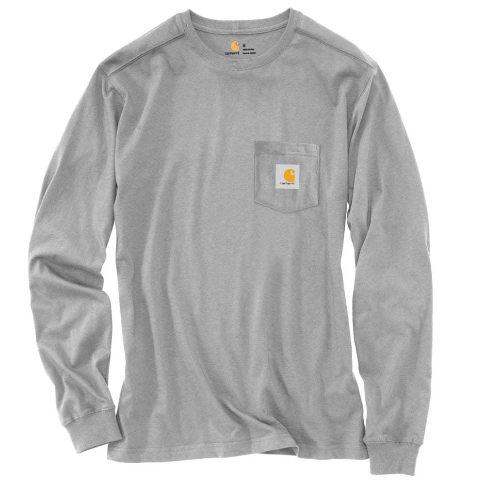 CARHARTT Men's Maddock Graphic Dog and Field Long Sleeve Pocket T-Shirt - COGNAC TWIST