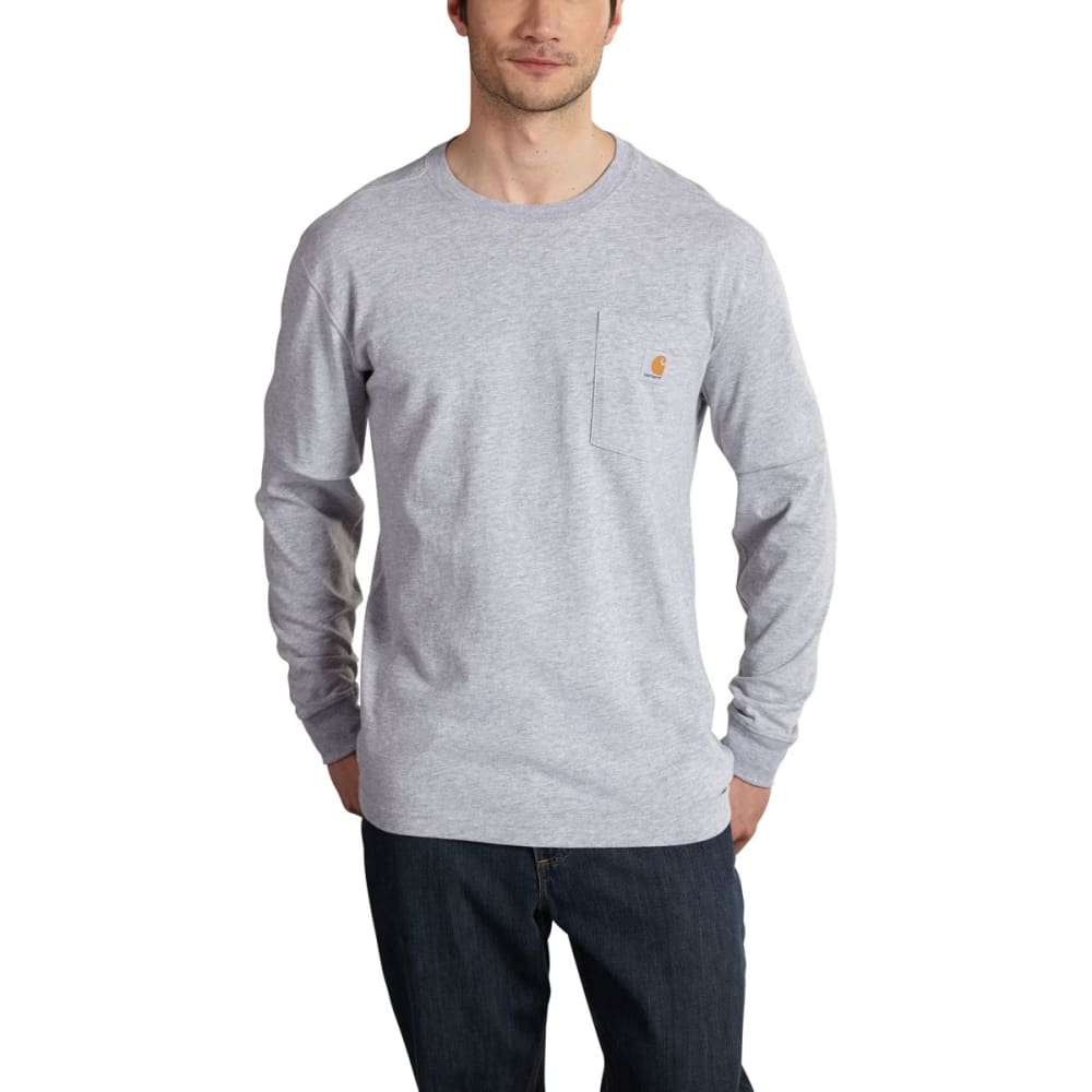 CARHARTT Men's Maddock Graphic Dog and Field Long Sleeve Pocket T-Shirt - COGNAC TWIST