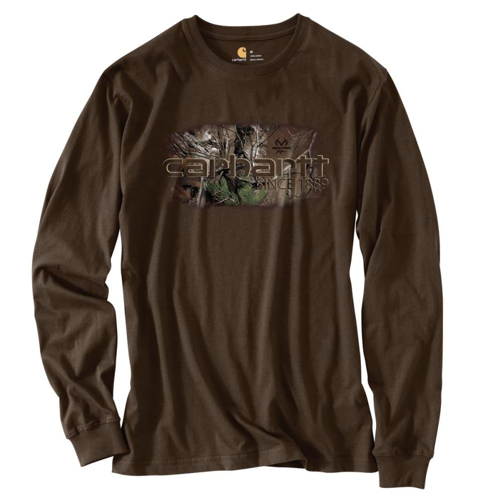 CARHARTT Men's Workwear Graphic Camo 1889 Long-Sleeve T-Shirt - DARK BROWN