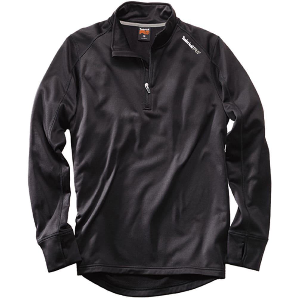 TIMBERLAND PRO Men's Understory Quarter Zip Fleece Shirt - 015 BLACK