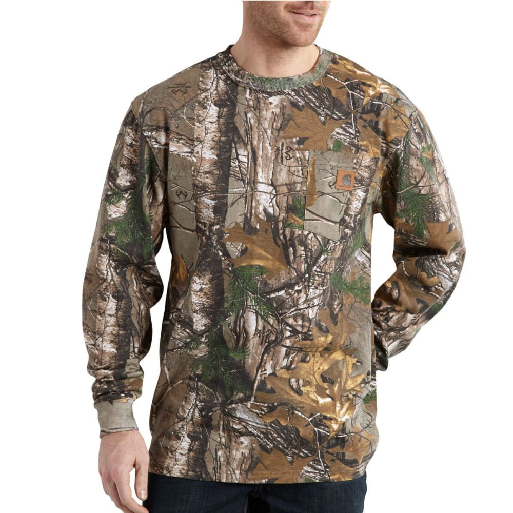 CARHARTT Men's Realtree Xtra Camo Long-Sleeve Tee - REAL TREE