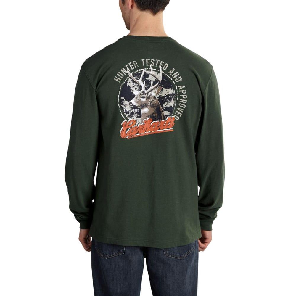CARHARTT Men's Maddock Graphic Hunted Long-Sleeve Pocket Tee - DUFFLE BAG GREEN
