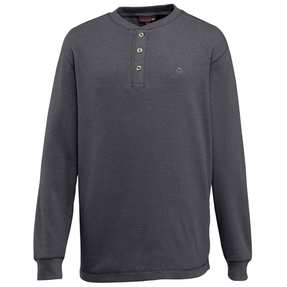 WOLVERINE Men's Walden Long Sleeve Henley - 010 CHARCO
