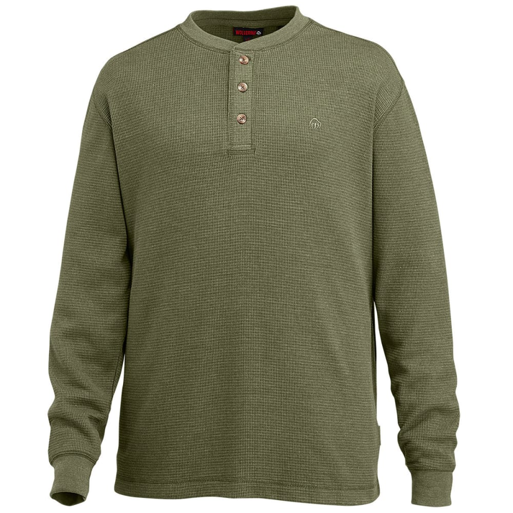 WOLVERINE Men's Walden Long Sleeve Henley - 341 OLIVE