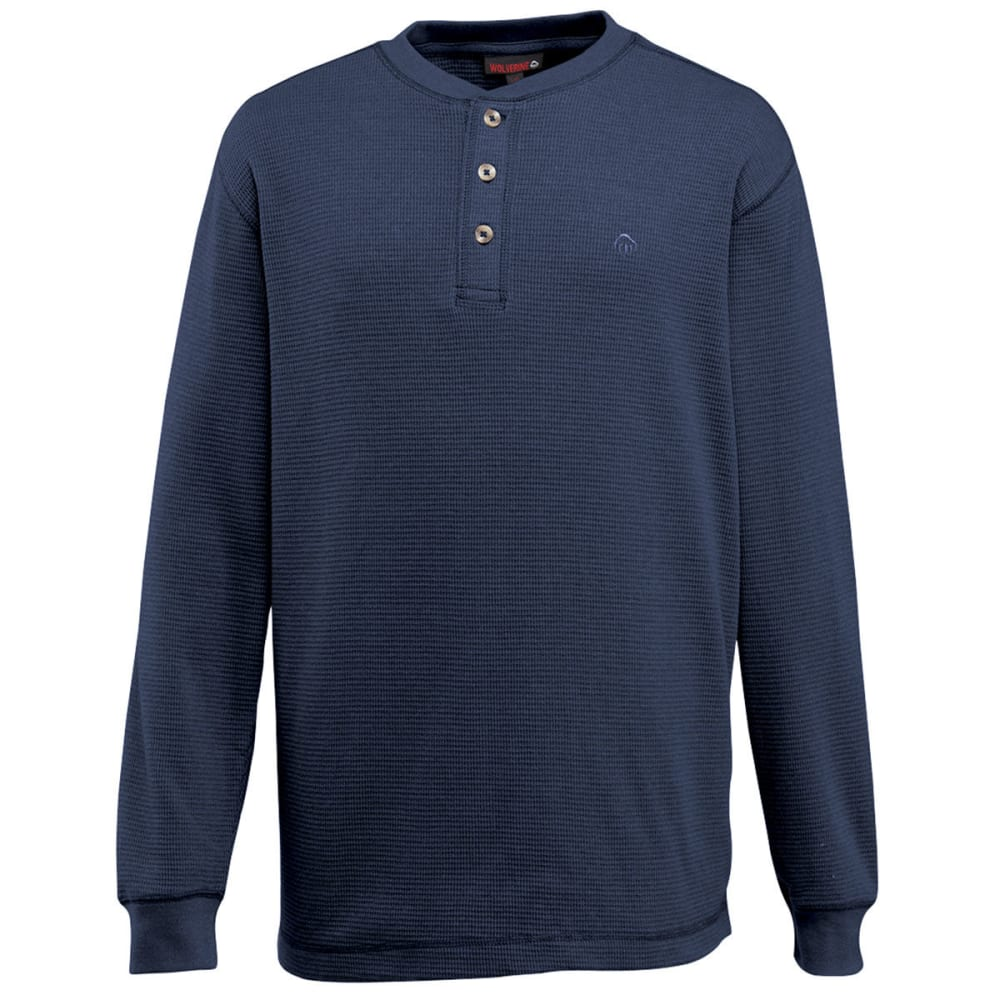 WOLVERINE Men's Walden Long Sleeve Henley - 417 NAVY