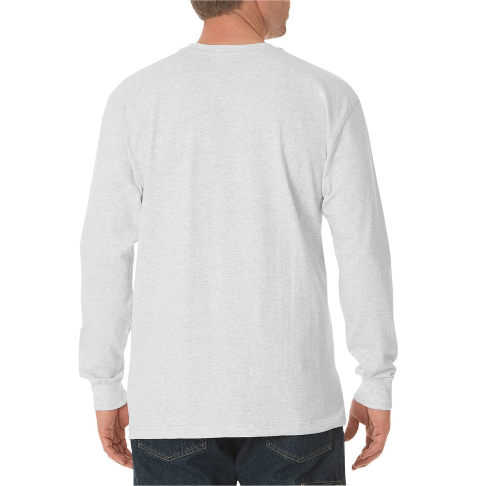 DICKIES Men's Long Sleeve Heavyweight Crew Neck Tee - ASH GREY