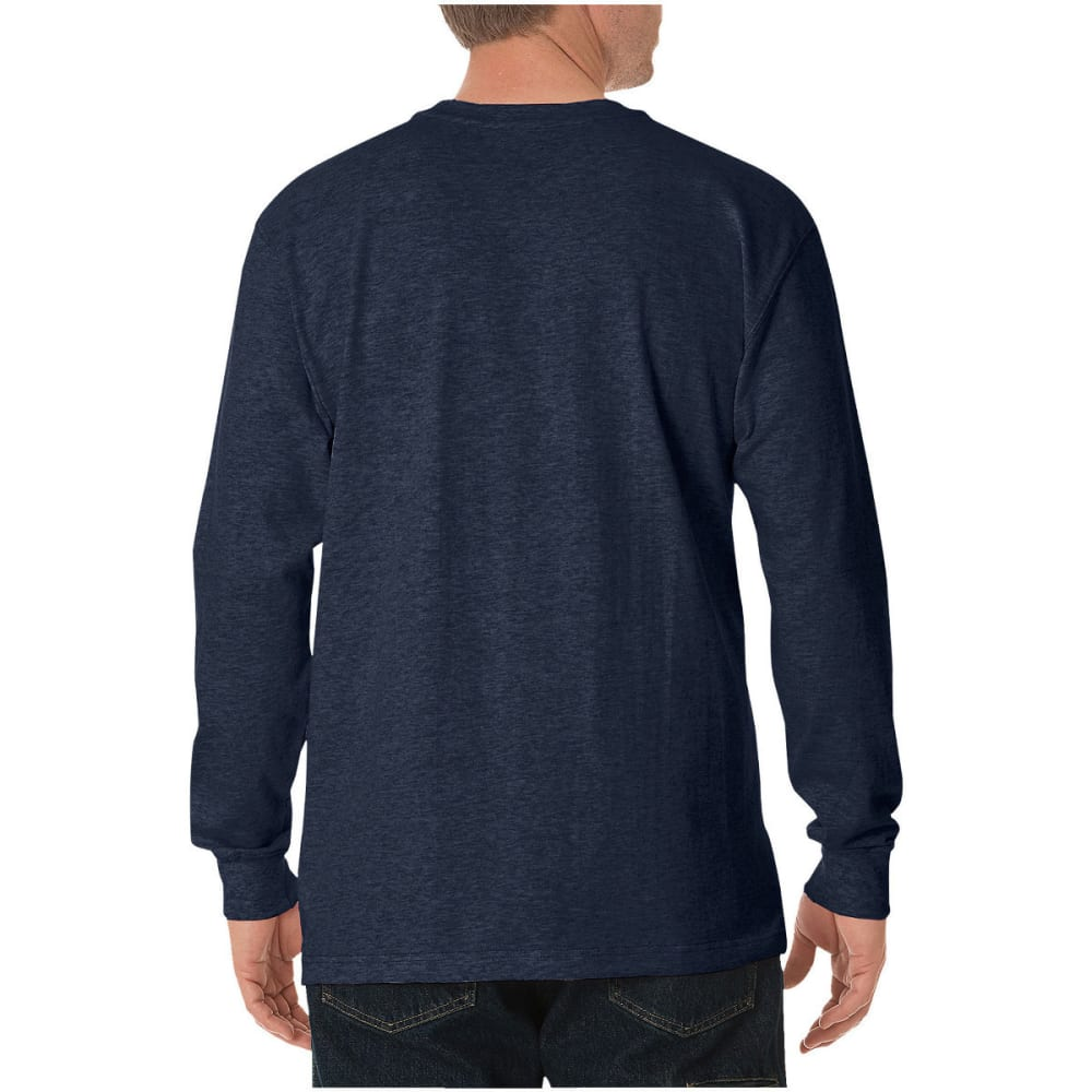 DICKIES Men's Heavyweight Crewneck Long-Sleeve Tee - DK NAVY