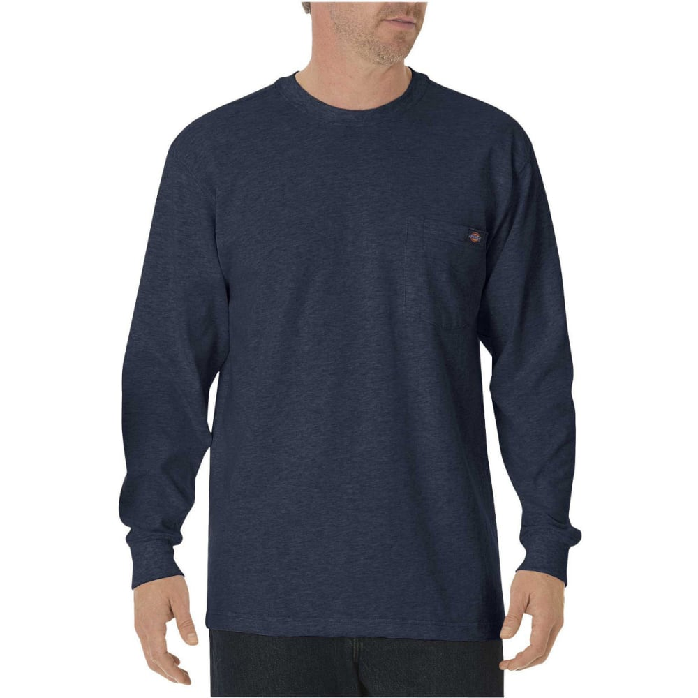 Dickies Men's Heavyweight Crewneck Long-Sleeve Tee - Blue, M