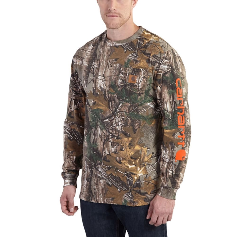 CARHARTT Men's Workwear Camo Long-Sleeve Tee - 977 REAL TREE CAMO