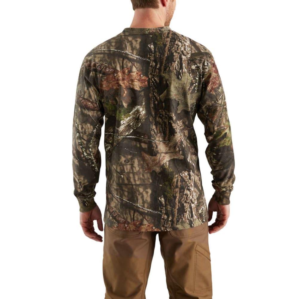CARHARTT Men's Workwear Camo Long-Sleeve Tee - 340 MOSSY OAK