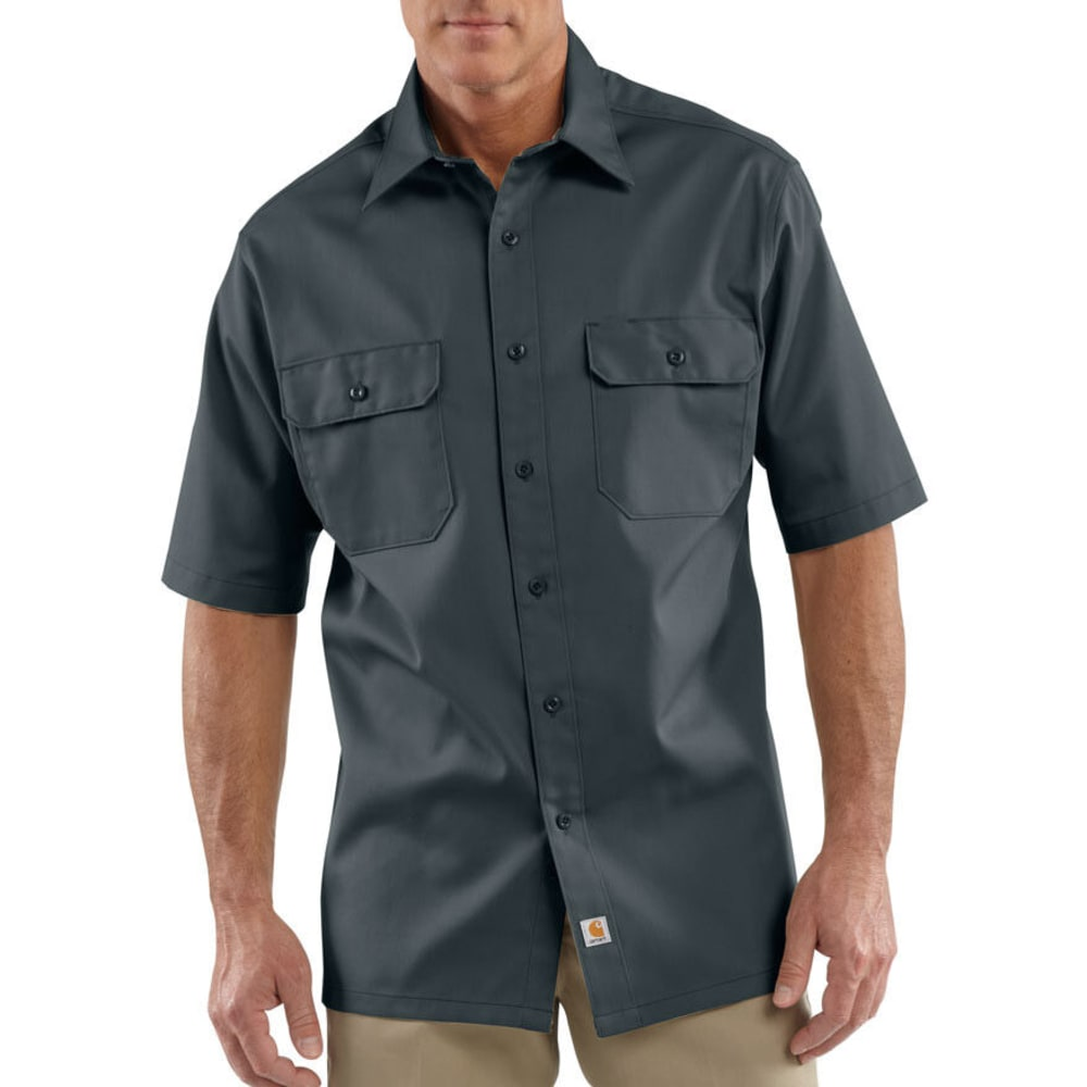 CARHARTT Men's Twill Work Shirt - DARK GREY