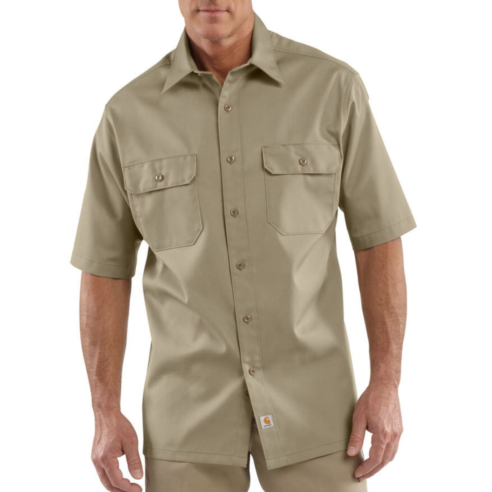 CARHARTT Men's Twill Work Shirt, Extended Sizes - KHAKI