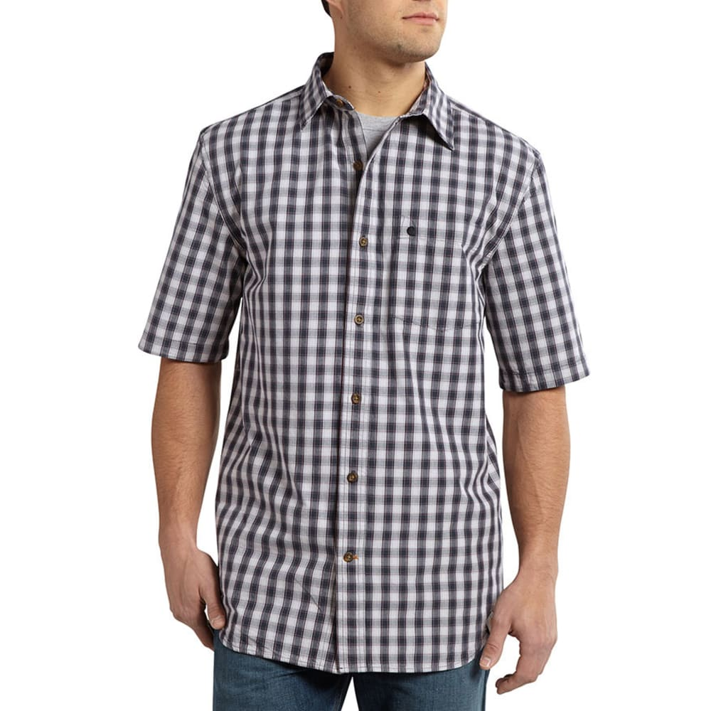 CARHARTT Men's Essential Plaid Open Collar Shirt - SHADOW