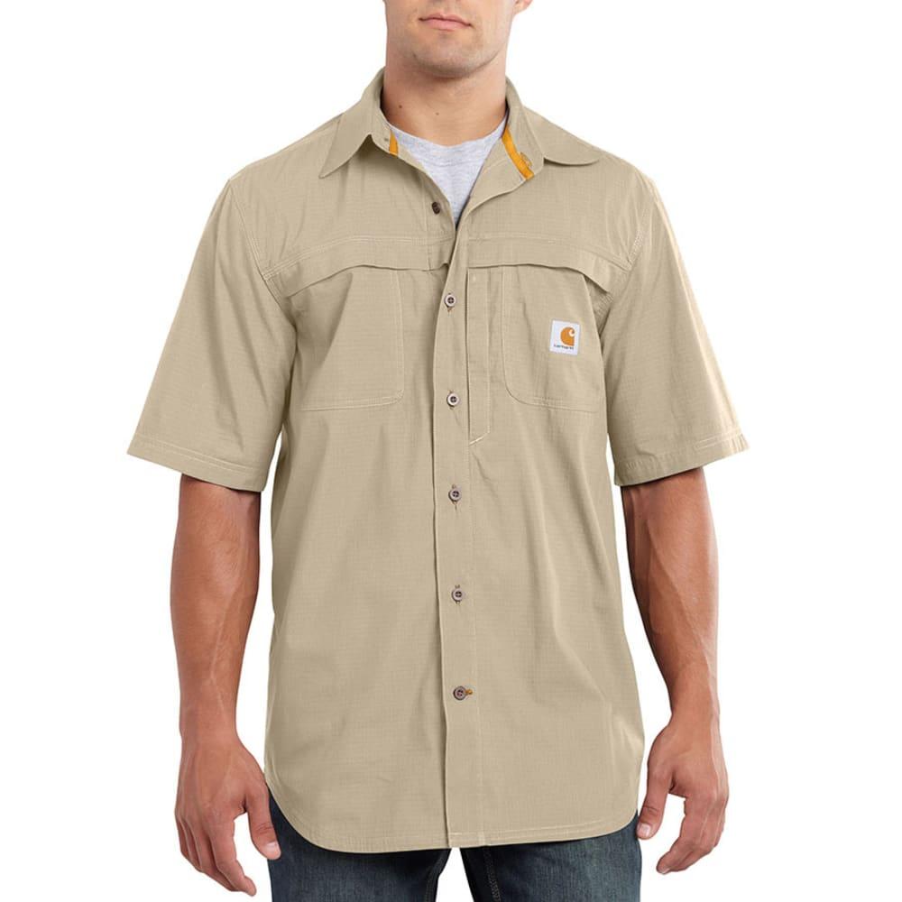 CARHARTT Men's Force Mandan Solid Woven Shirt - SAND