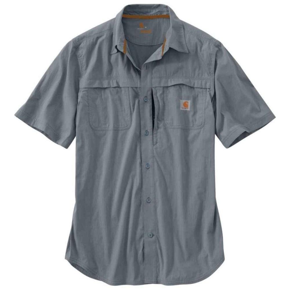 CARHARTT Men's Force Mandan Solid Woven Shirt - HORIZON BLUE