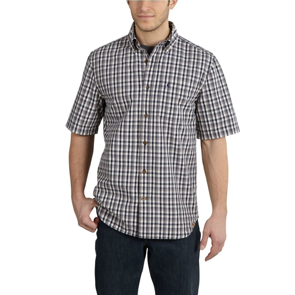 CARHARTT Men's Essential Plaid Button-Down Shirt - BLUESTONE