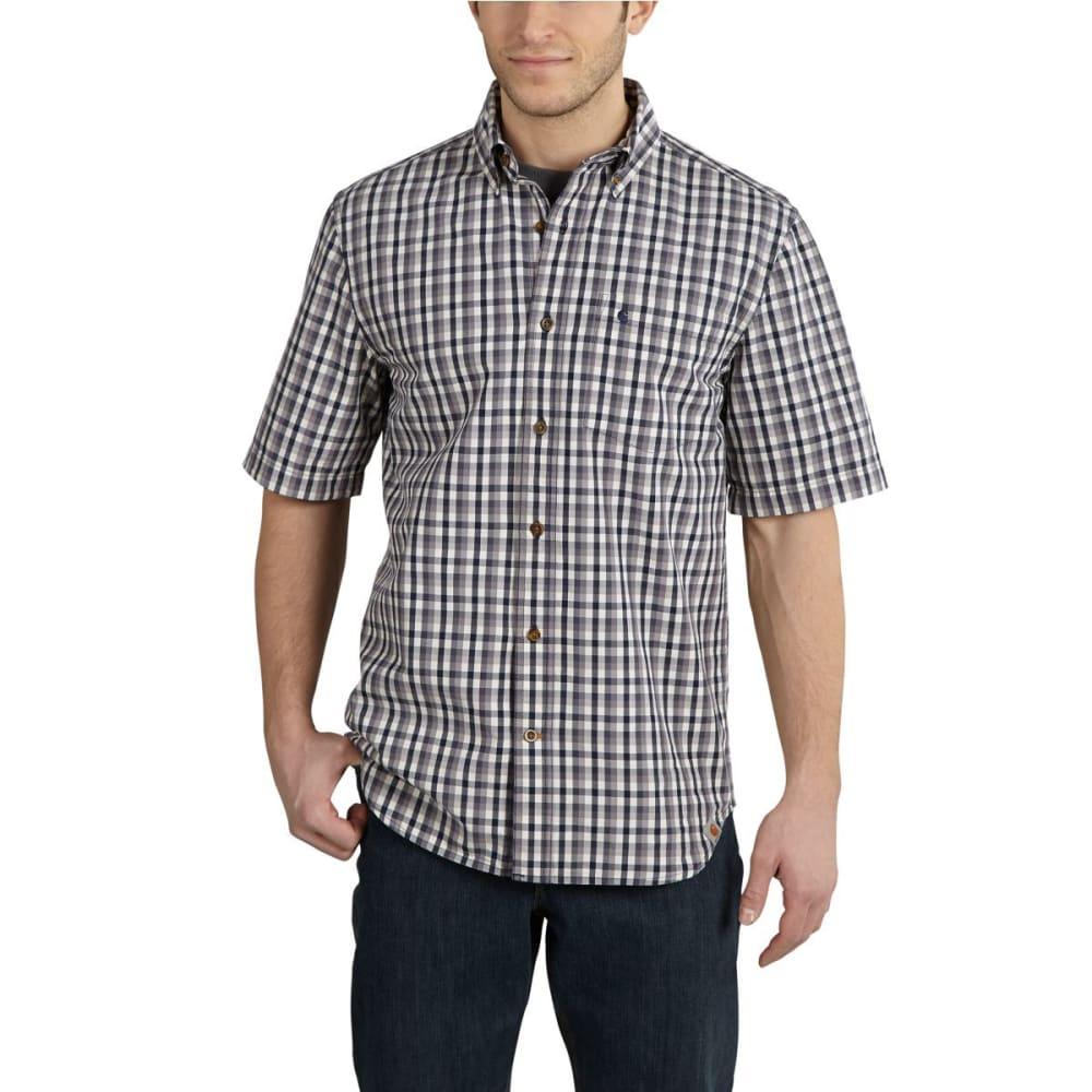 CARHARTT Men's Essential Plaid Button-Down Shirt - BLUESTONE
