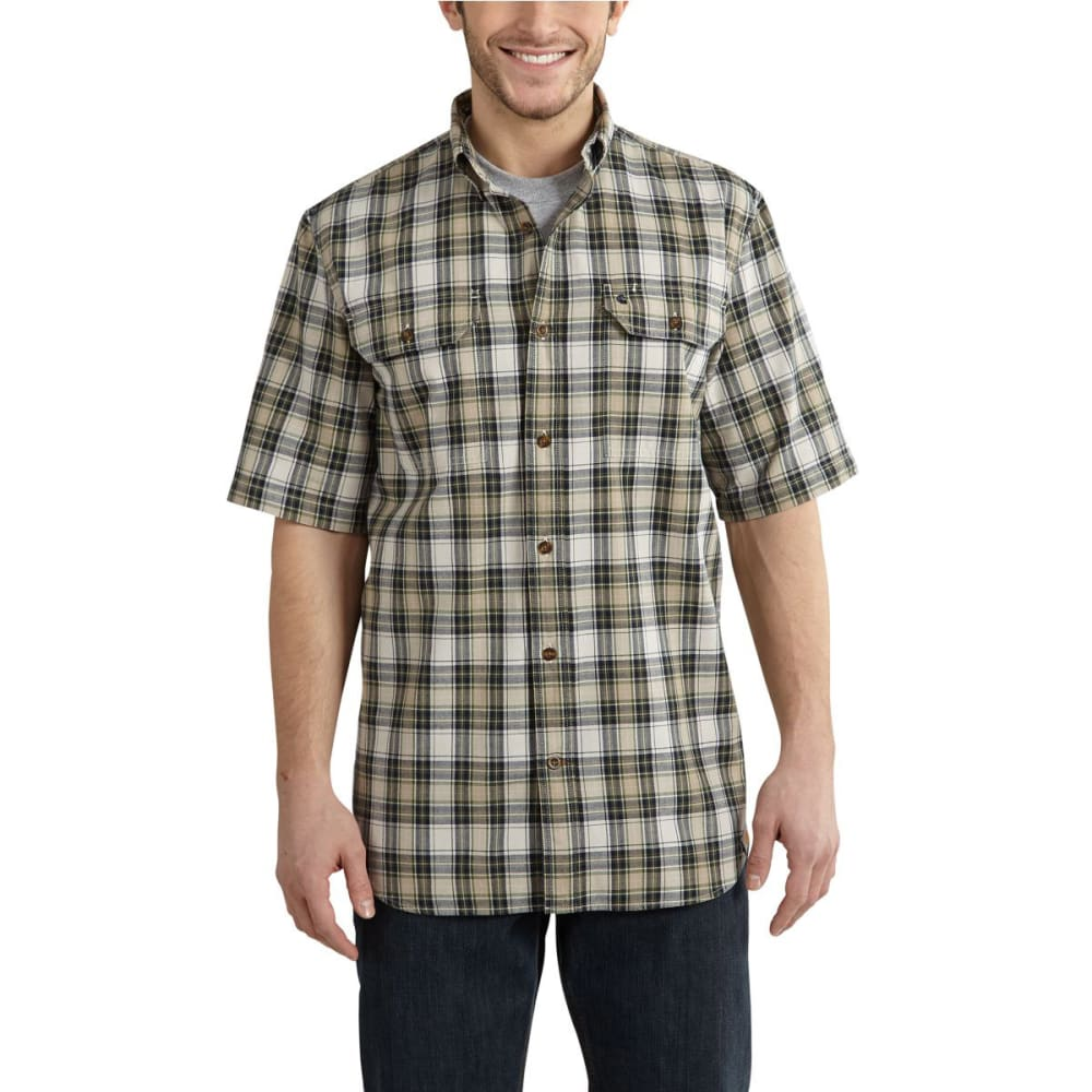 Carhartt Men's Fort Plaid Short-Sleeve Shirt - Brown, M