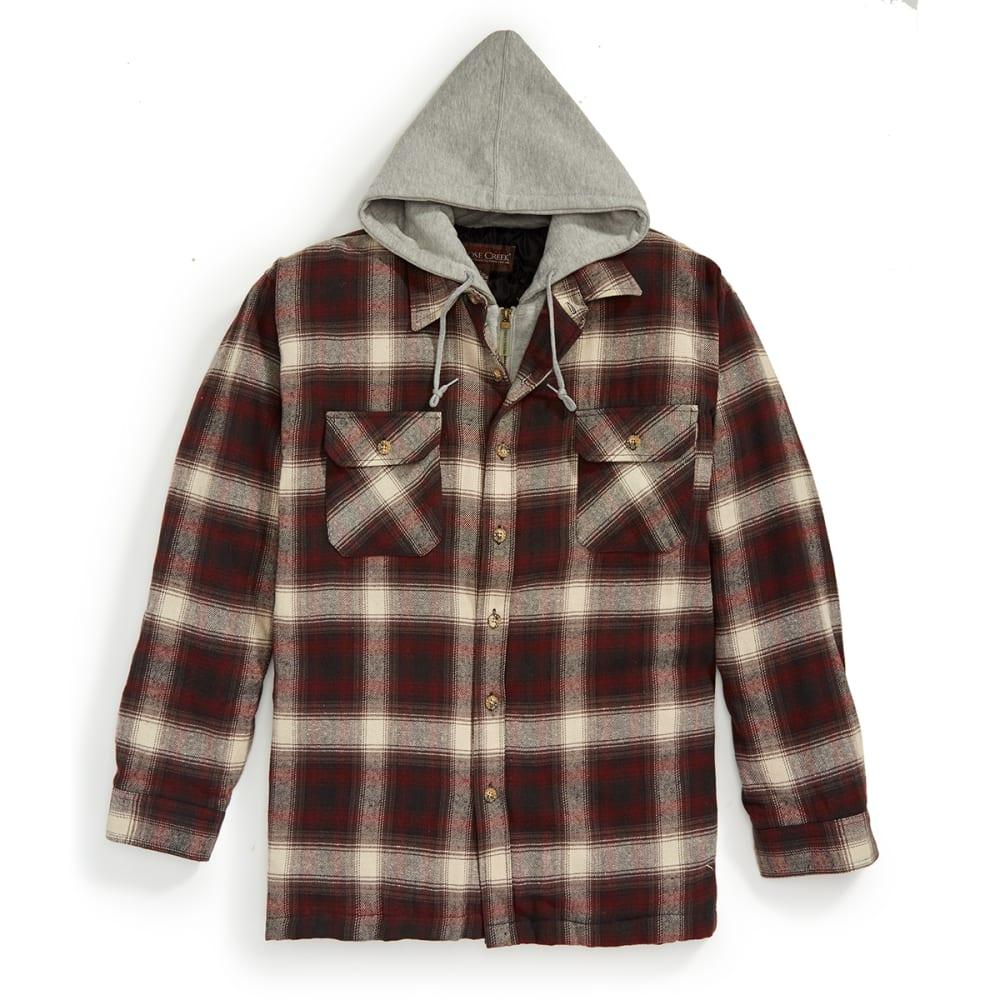 MOOSE CREEK Men's Quilt-Lined Flannel Long Sleeve Shirt - BRICK