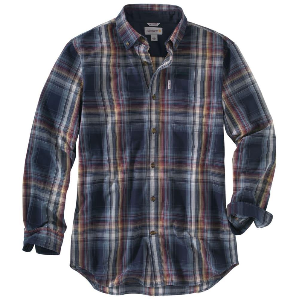 CARHARTT Men's Bellevue Long-Sleeve Shirt - NAVY