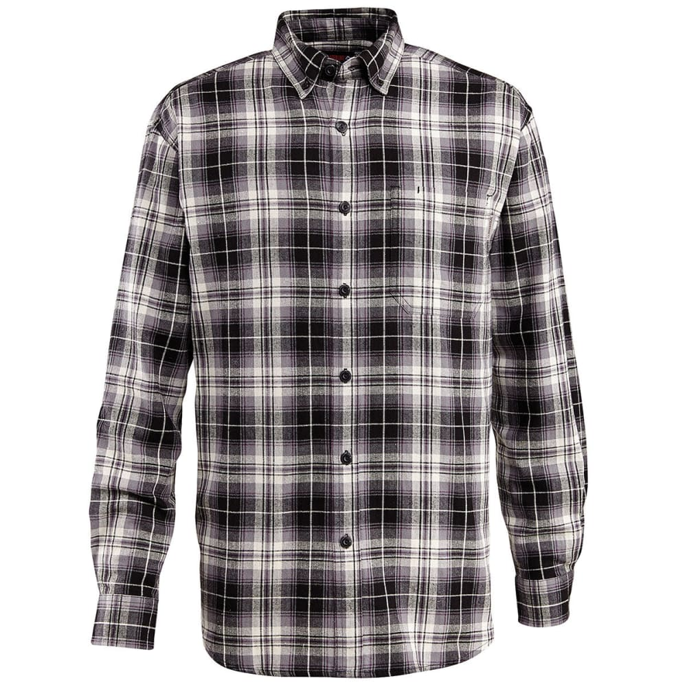 WOLVERINE Men's Rogan Long Sleeve Flannel Shirt - 003 BLACK PL
