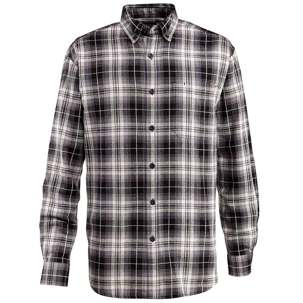 WOLVERINE Men's Rogan Long Sleeve Flannel Shirt - 003 BLACK PL