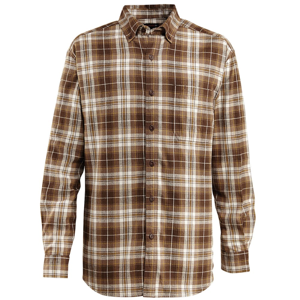 WOLVERINE Men's Rogan Long Sleeve Flannel Shirt - 201 GRAVEL
