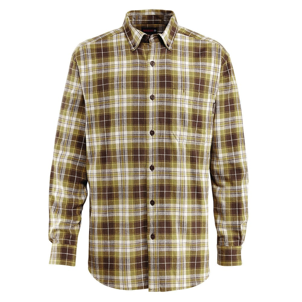 WOLVERINE Men's Rogan Long Sleeve Flannel Shirt - 314 CPRESS