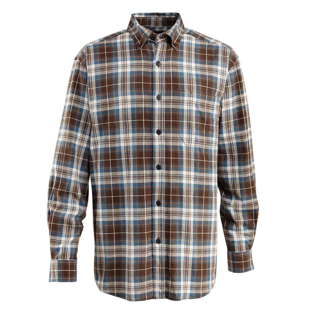 WOLVERINE Men's Rogan Long Sleeve Flannel Shirt - 611 MAROON