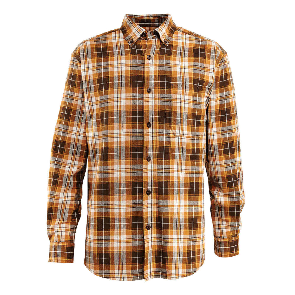 WOLVERINE Men's Rogan Long Sleeve Flannel Shirt - 804 GINGER