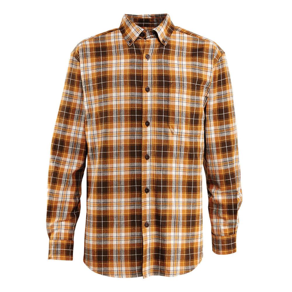 WOLVERINE Men's Rogan Long Sleeve Flannel Shirt - 804 GINGER