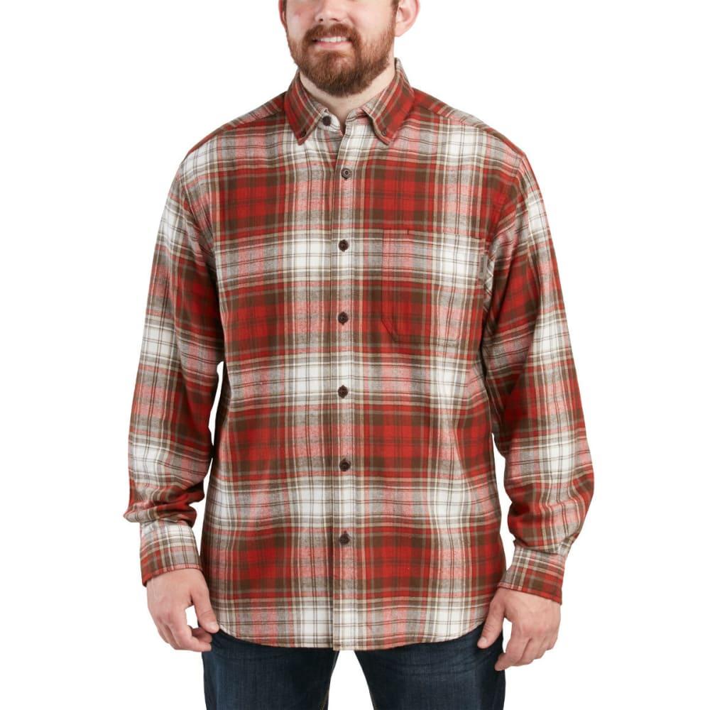 WOLVERINE Men's Rogan Long Sleeve Flannel Shirt - 802 SPICE PLAID