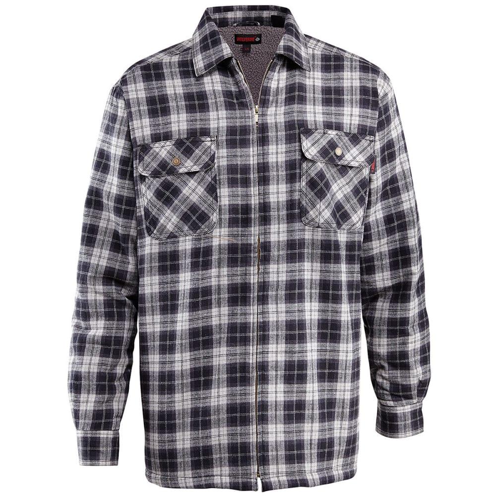 WOLVERINE Men's Marshall Sherpa Lined Shirt Jacket - 003 BLK