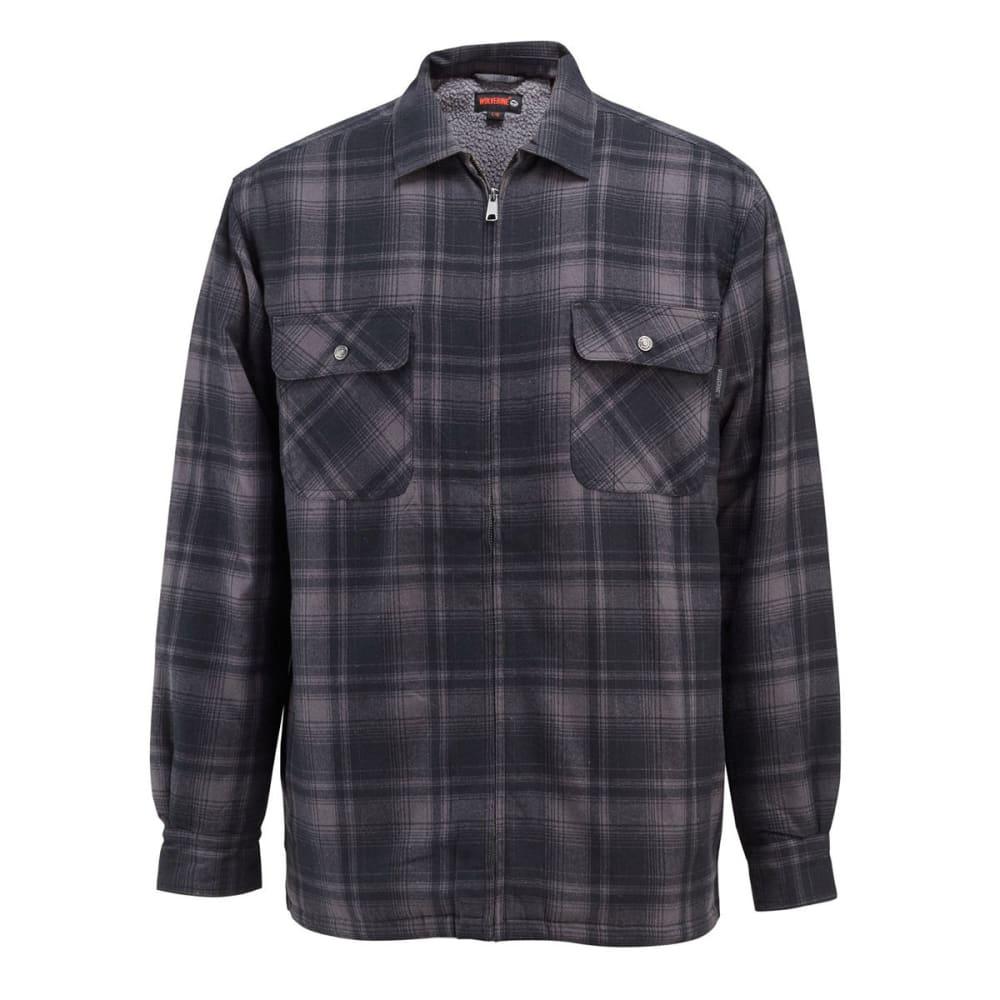 WOLVERINE Men's Marshall Sherpa Lined Shirt Jacket - 045 GRANITE PLAID