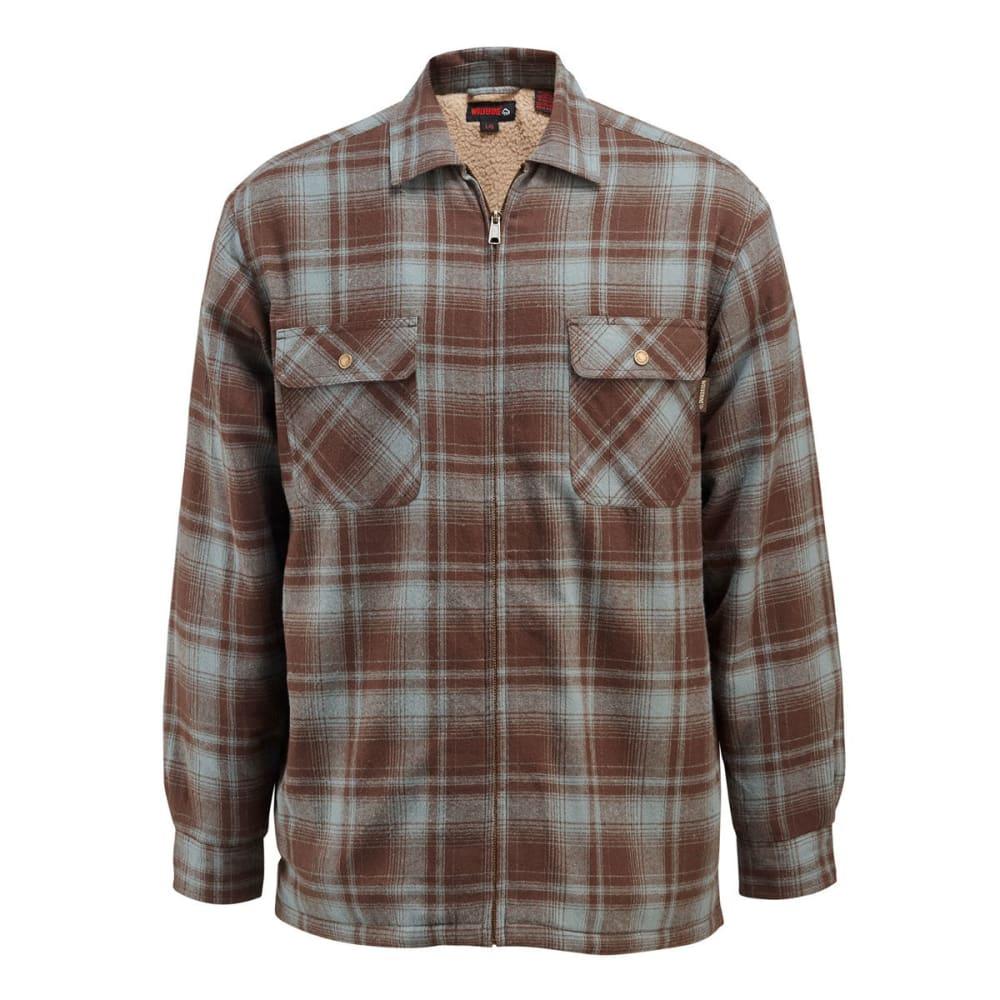 WOLVERINE Men's Marshall Sherpa Lined Shirt Jacket - 315 HEMLOCK PLAID