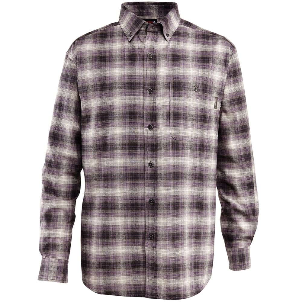 WOLVERINE Men's Long Sleeve Plaid Shirt - 023 LEAD P