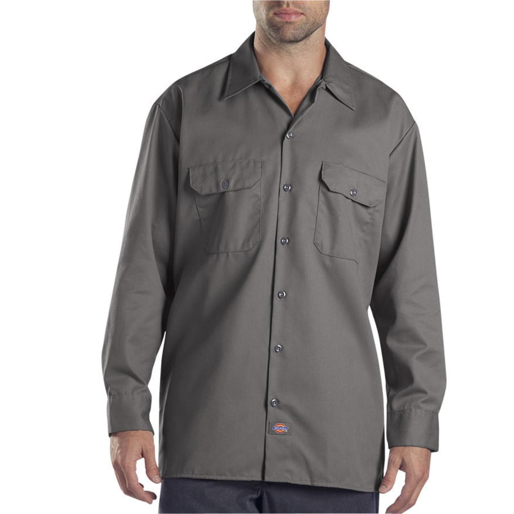 DICKIES Men's Work Shirt - CH CHARCOAL
