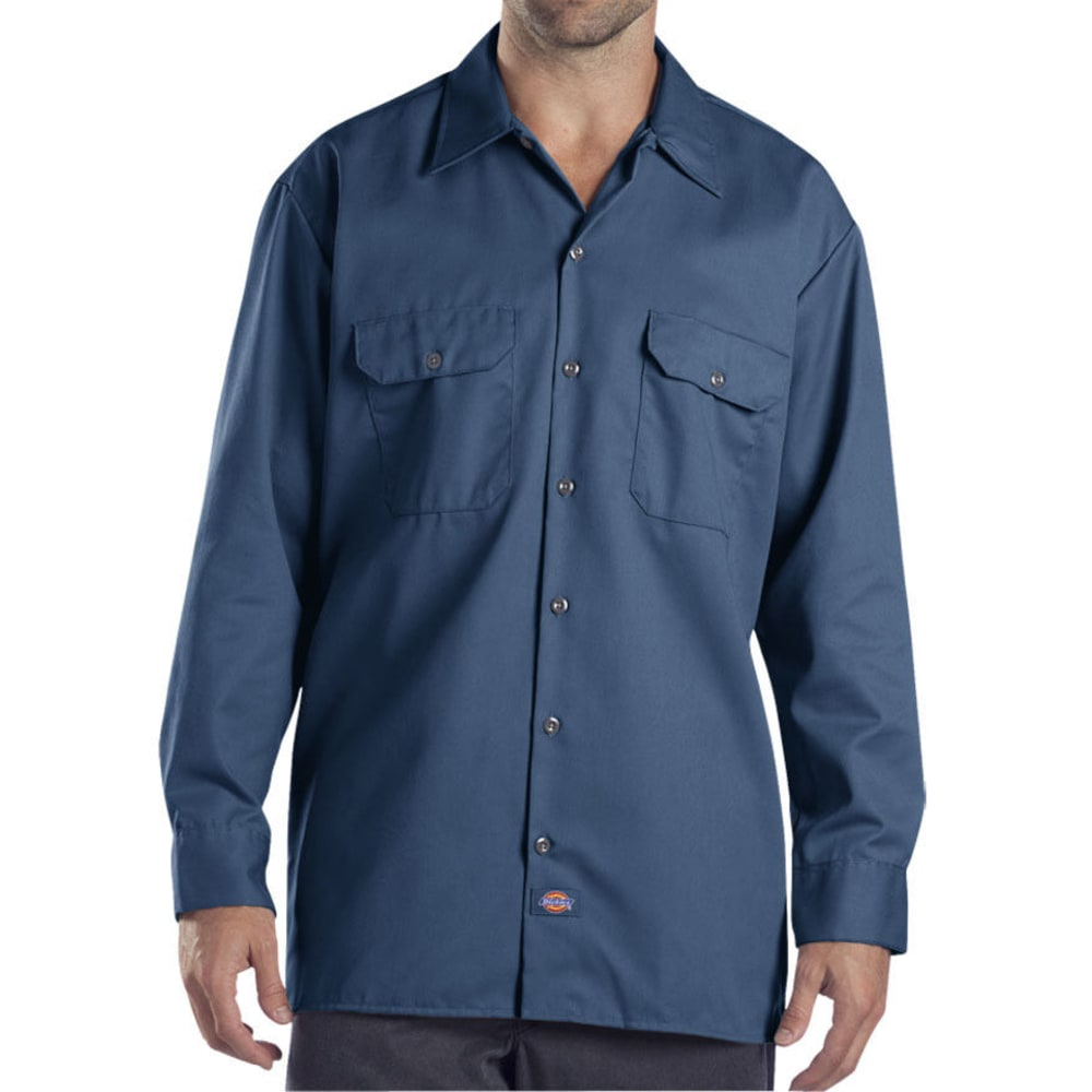 Dickies Men's Work Shirt - Blue, M